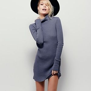 Free People Ribbed Turtleneck Dress